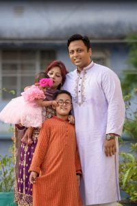 Azaan with his family