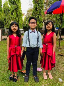 Azaan with Larriena and Larrisa